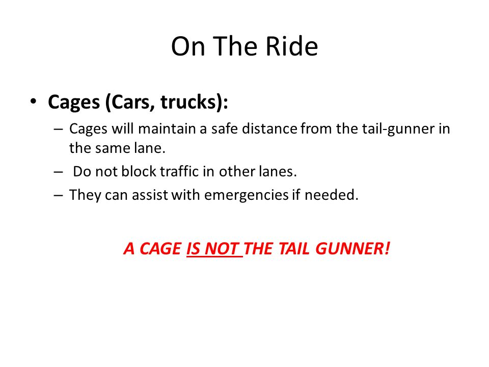A CAGE IS NOT THE TAIL GUNNER!