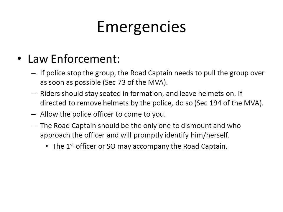 Emergencies Law Enforcement: