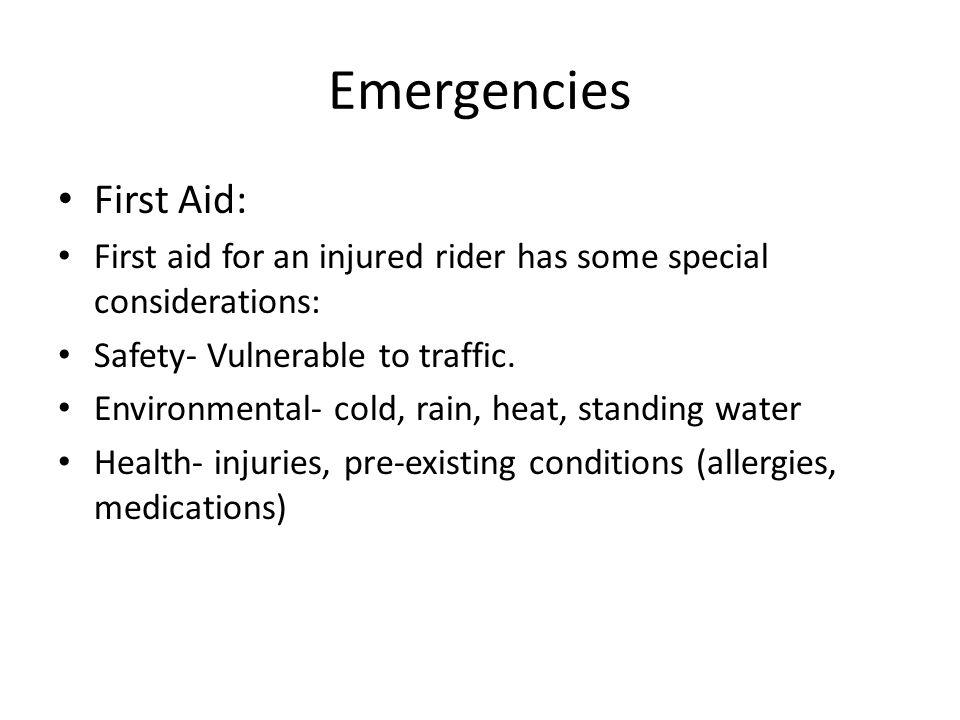 Emergencies First Aid: