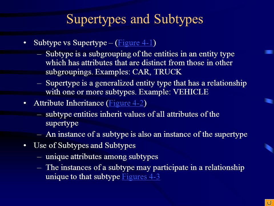 Supertypes and Subtypes