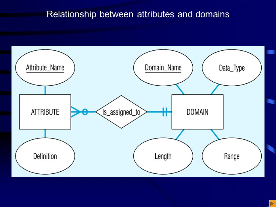 Relationship between attributes and domains