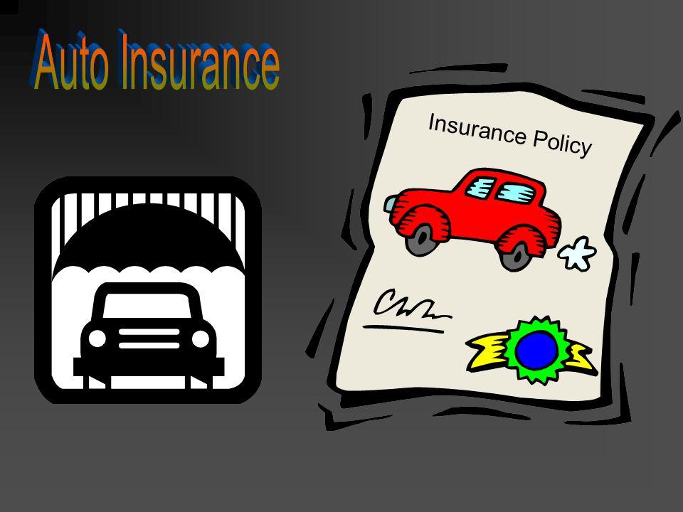 Auto Insurance Insurance Policy