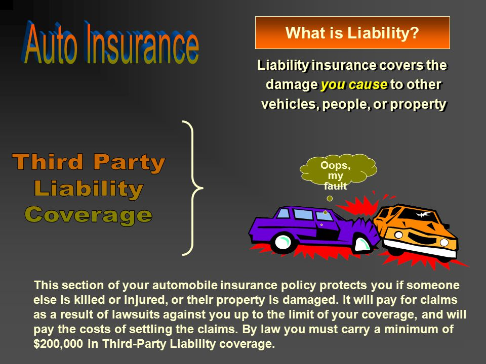 Auto Insurance Third Party Liability Coverage Third Party Liability
