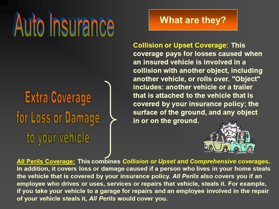 Auto Insurance Extra Coverage for Loss or Damage to your vehicle