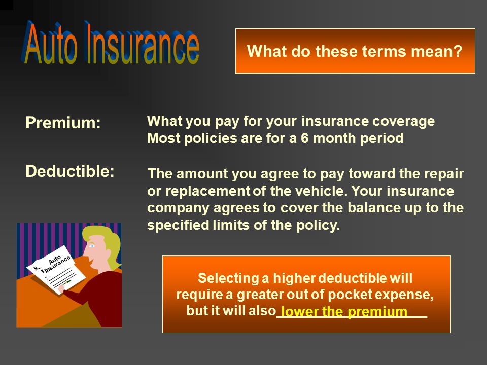 Auto Insurance Premium: Deductible: What do these terms mean