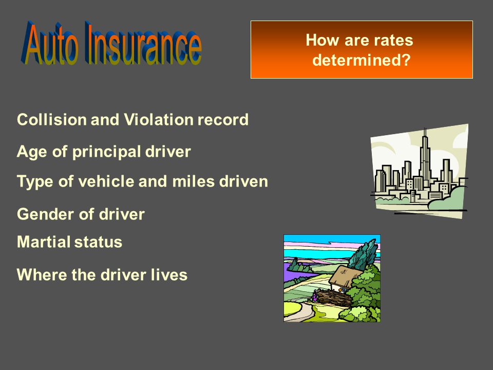 Auto Insurance How are rates determined