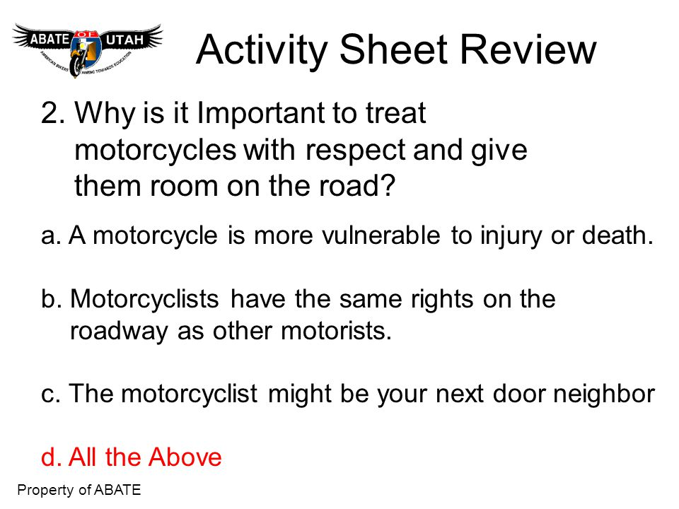 Activity Sheet Review 2. Why is it Important to treat