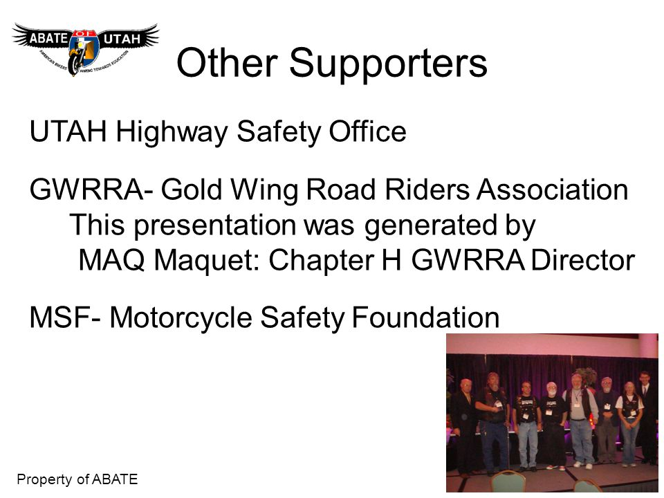 Other Supporters UTAH Highway Safety Office