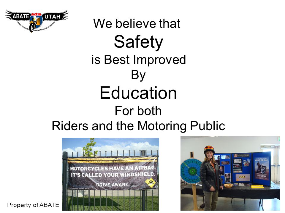 Riders and the Motoring Public