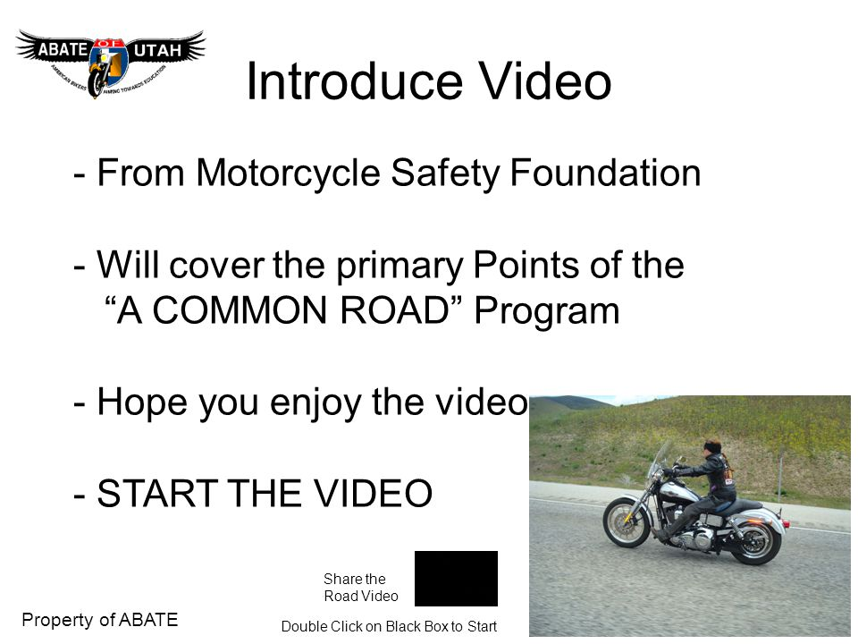 Introduce Video - From Motorcycle Safety Foundation