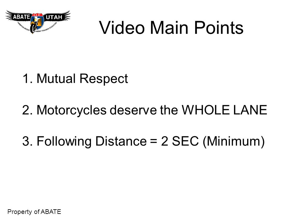 Video Main Points 1. Mutual Respect