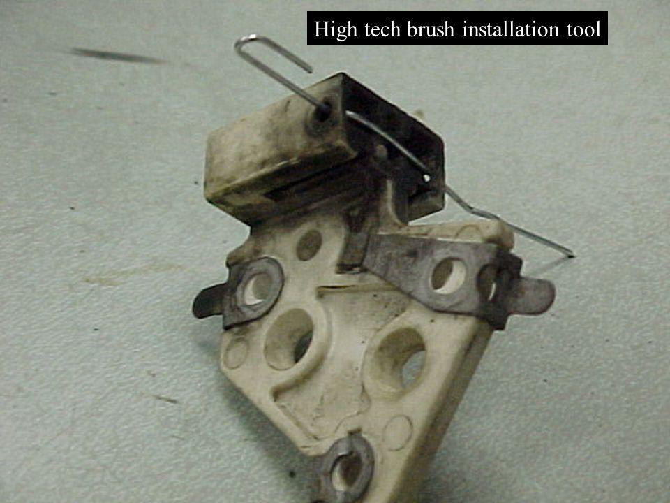 High tech brush installation tool