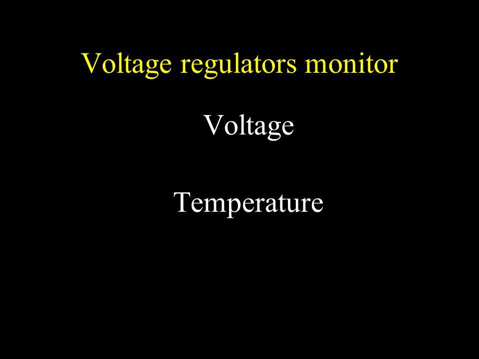 Voltage regulators monitor