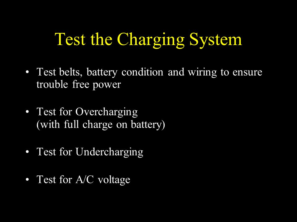 Test the Charging System