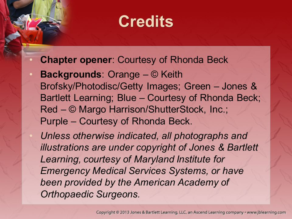 Credits Chapter opener: Courtesy of Rhonda Beck