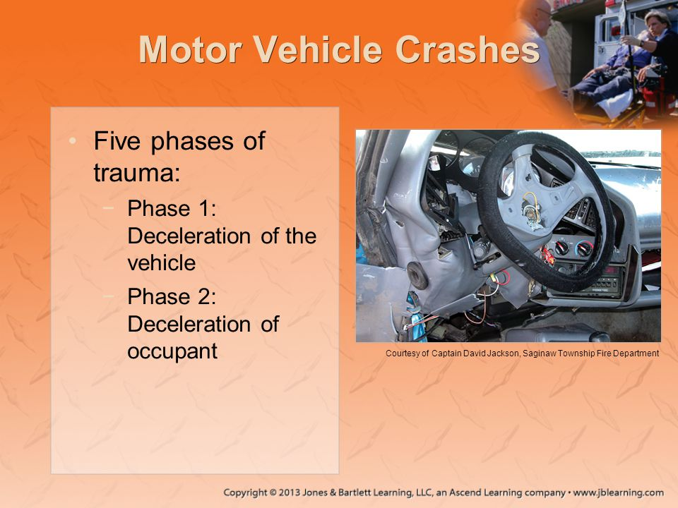 Motor Vehicle Crashes Five phases of trauma: