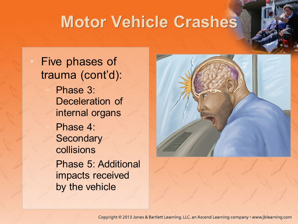 Motor Vehicle Crashes Five phases of trauma (cont'd):