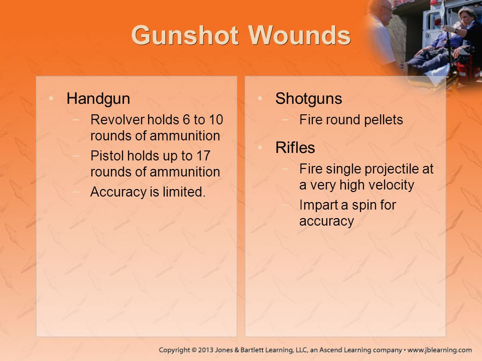 Gunshot Wounds Handgun Shotguns Rifles