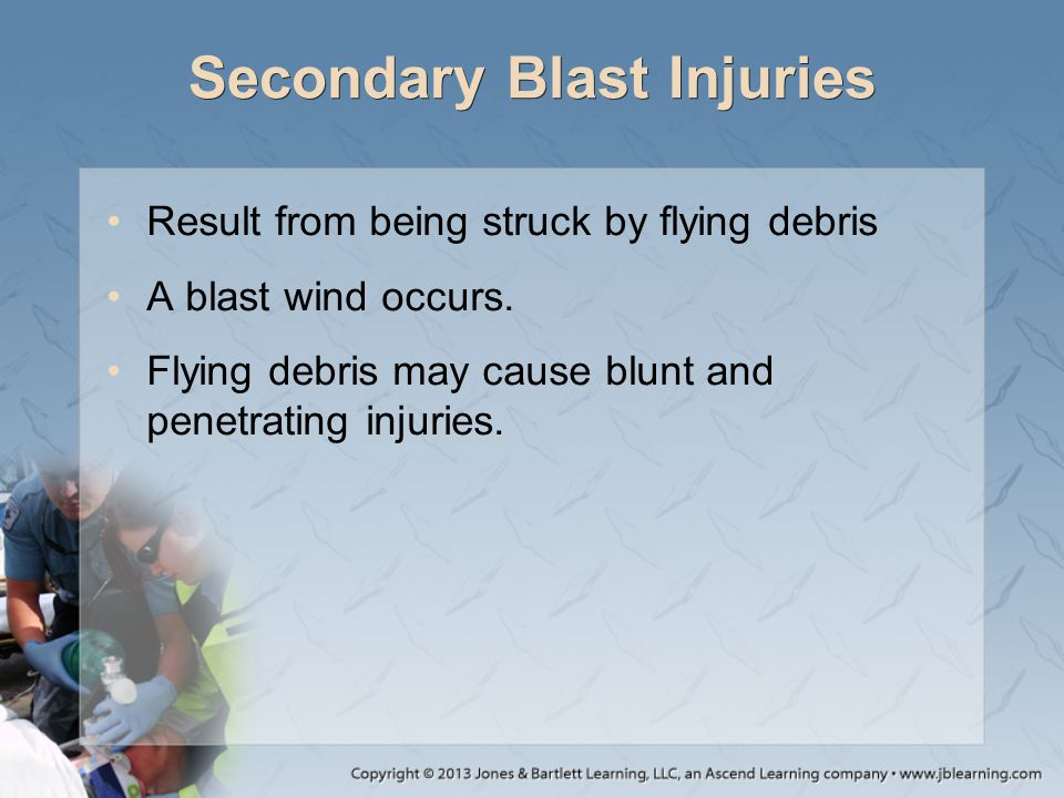 Secondary Blast Injuries