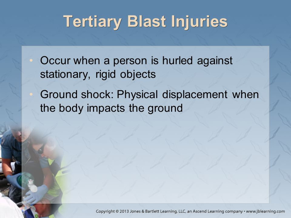 Tertiary Blast Injuries