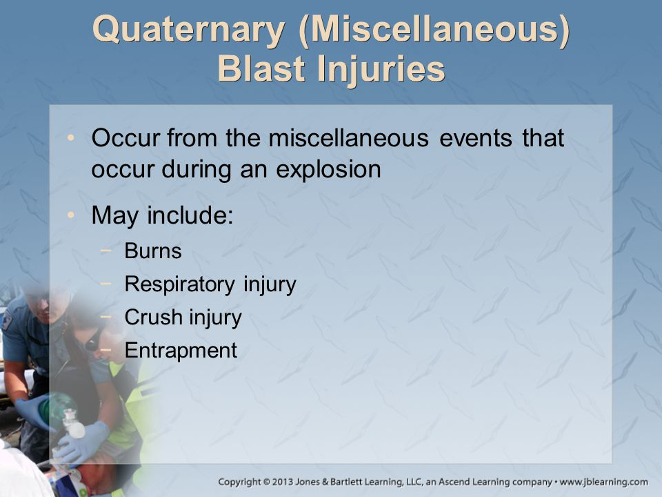 Quaternary (Miscellaneous) Blast Injuries