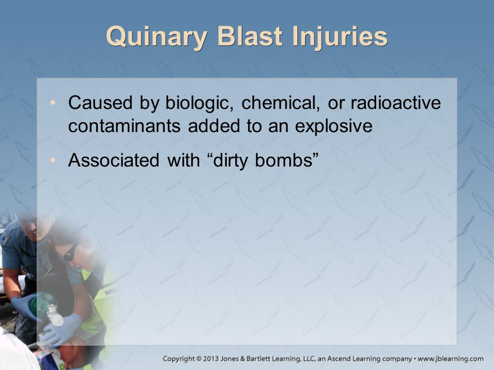 Quinary Blast Injuries