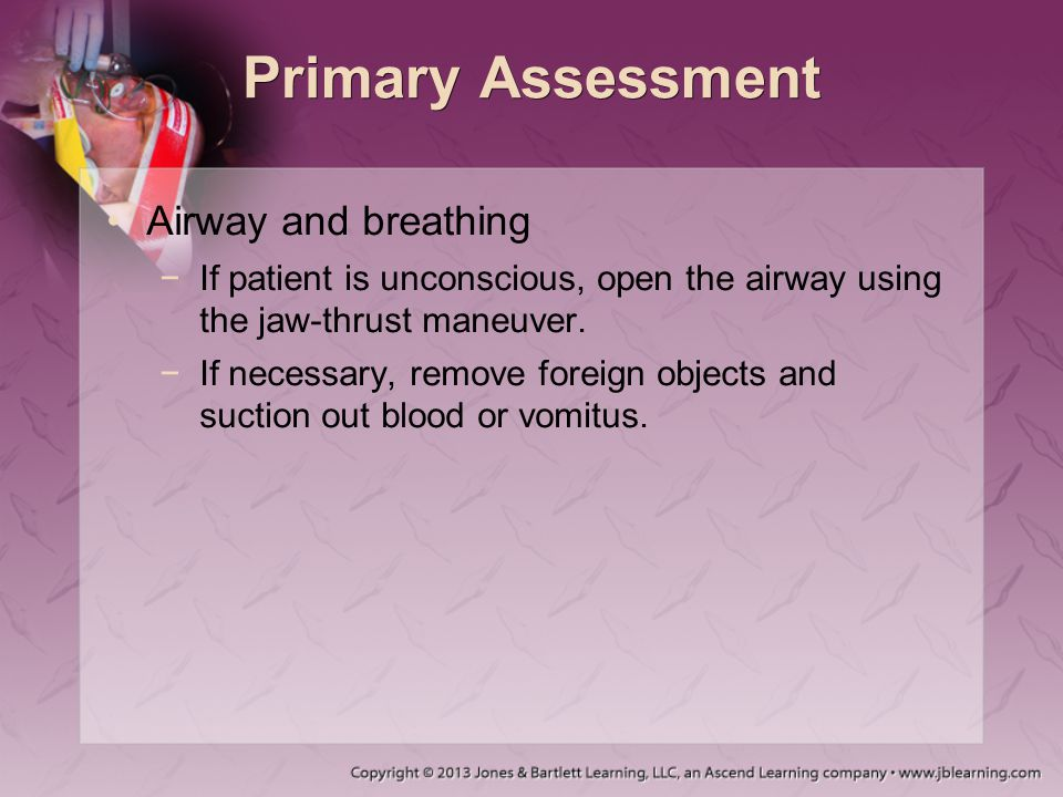 Primary Assessment Airway and breathing