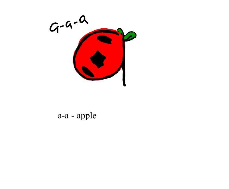 a-a - apple