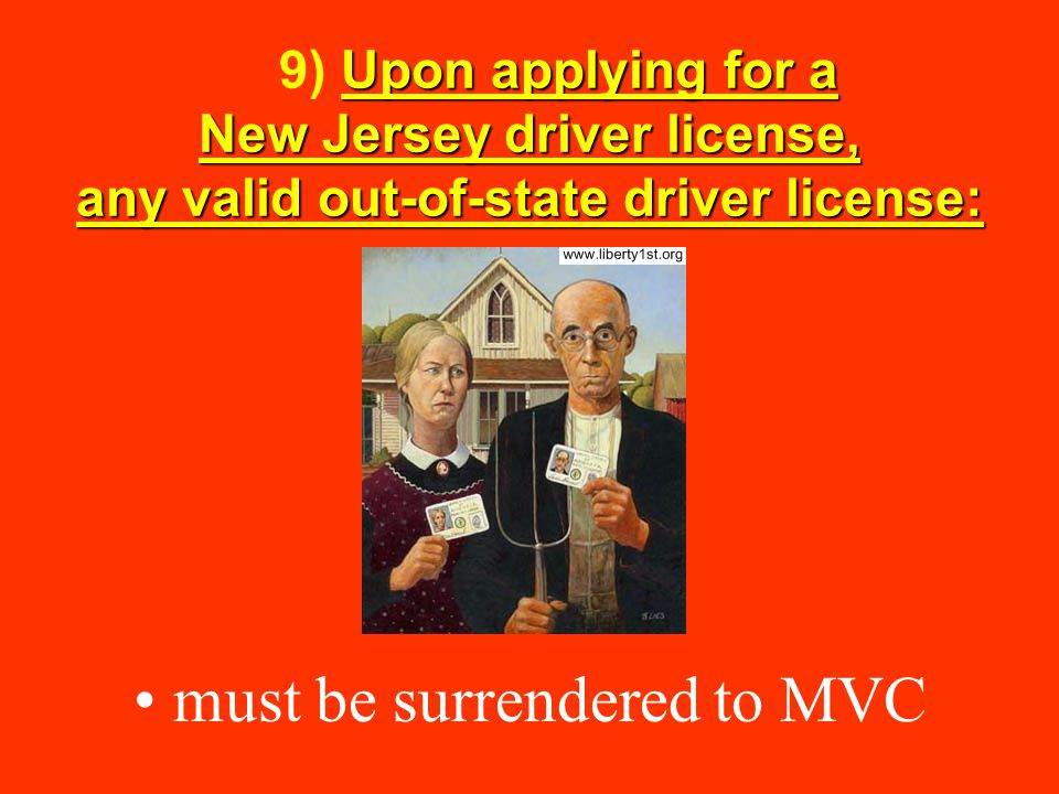 must be surrendered to MVC