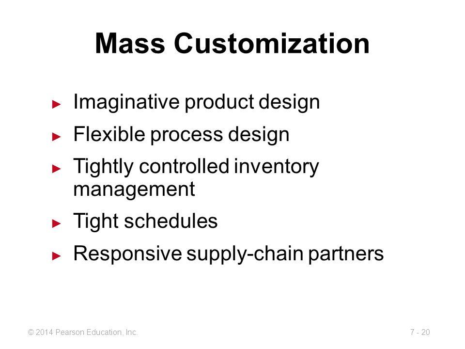 Mass Customization Imaginative product design Flexible process design