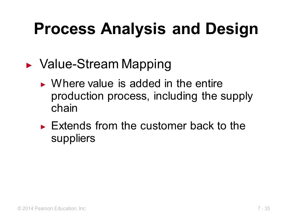Process Analysis and Design