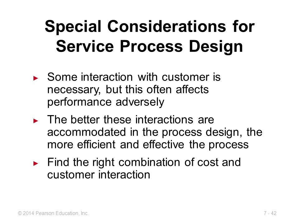 Special Considerations for Service Process Design
