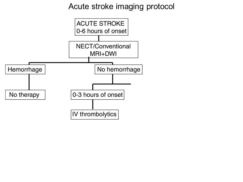 Acute stroke imaging protocol