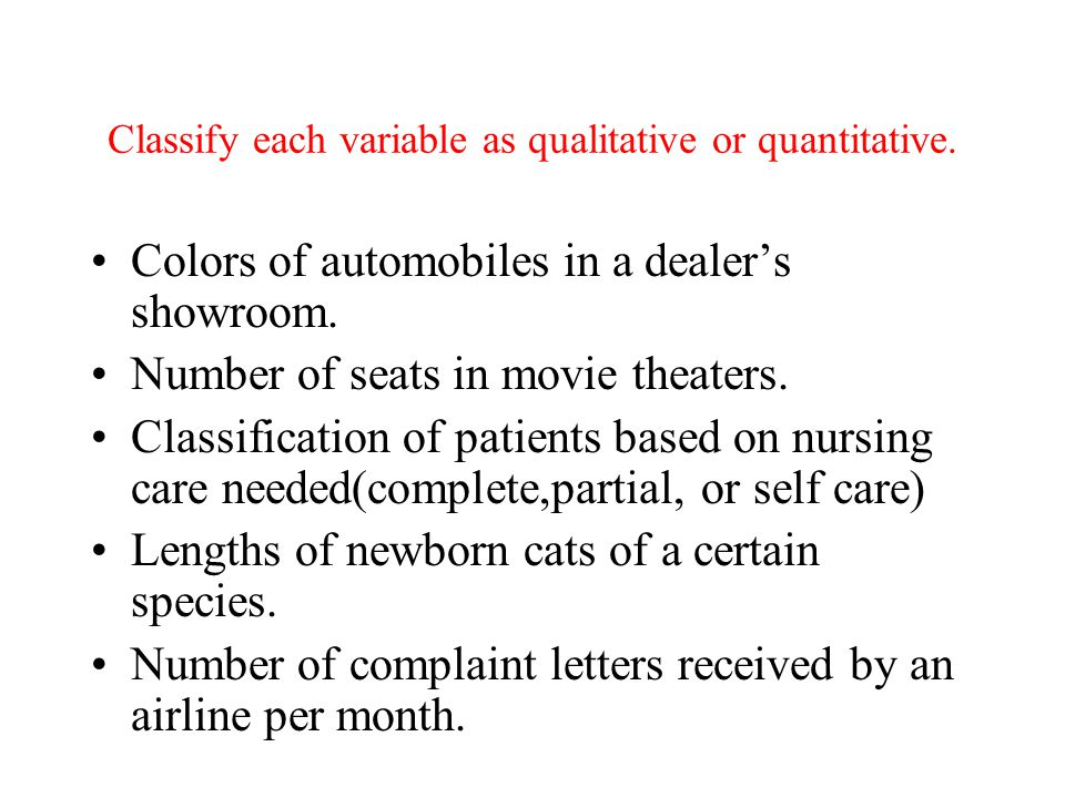 Classify each variable as qualitative or quantitative.