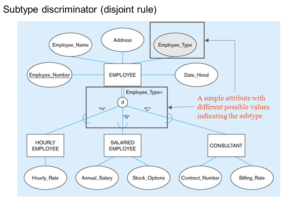 Subtype discriminator (disjoint rule)