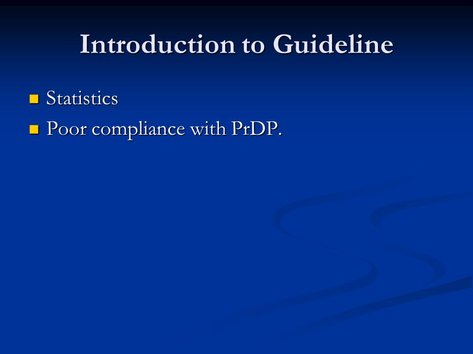 Introduction to Guideline