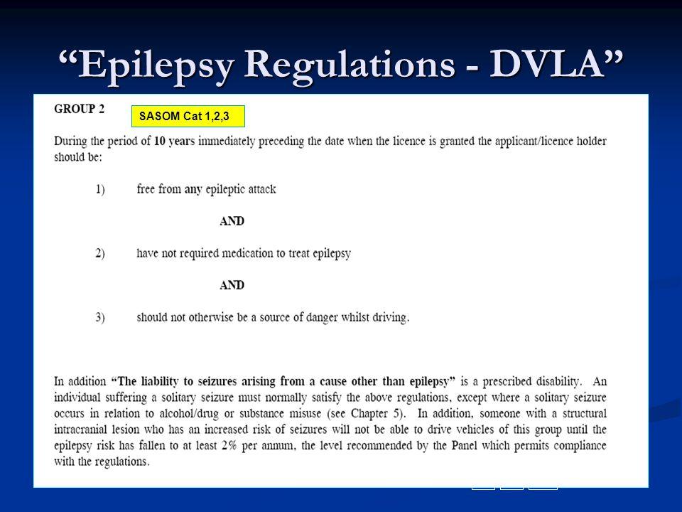 Epilepsy Regulations - DVLA