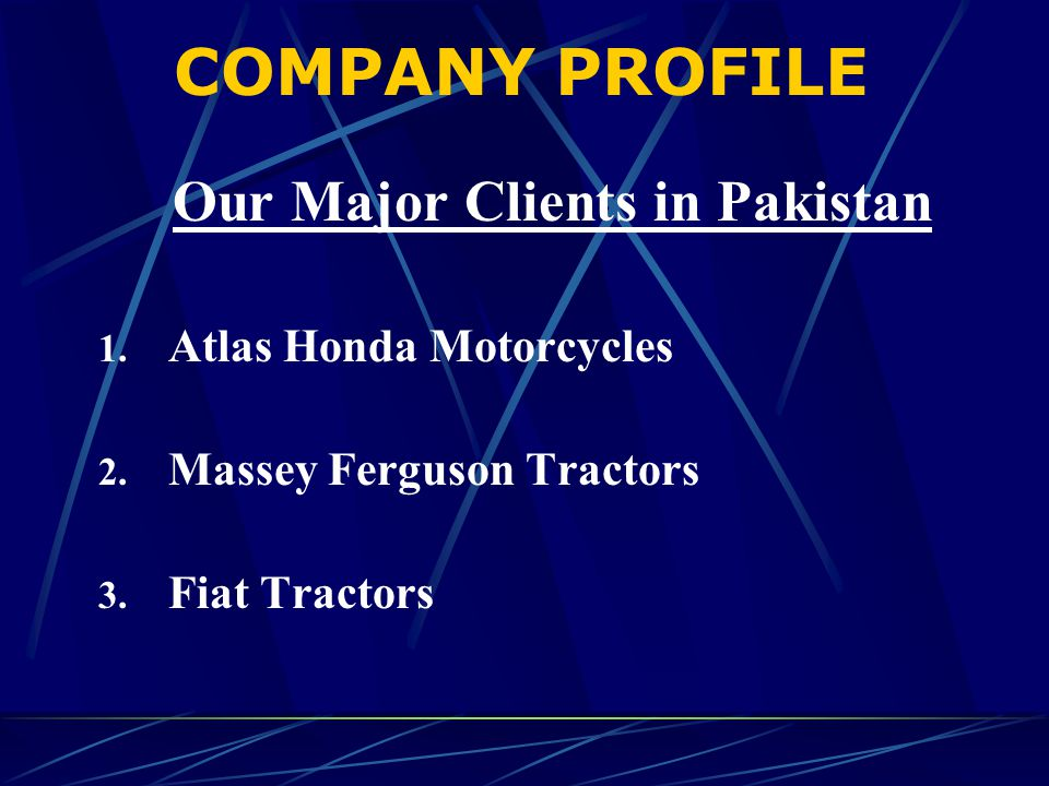 Our Major Clients in Pakistan