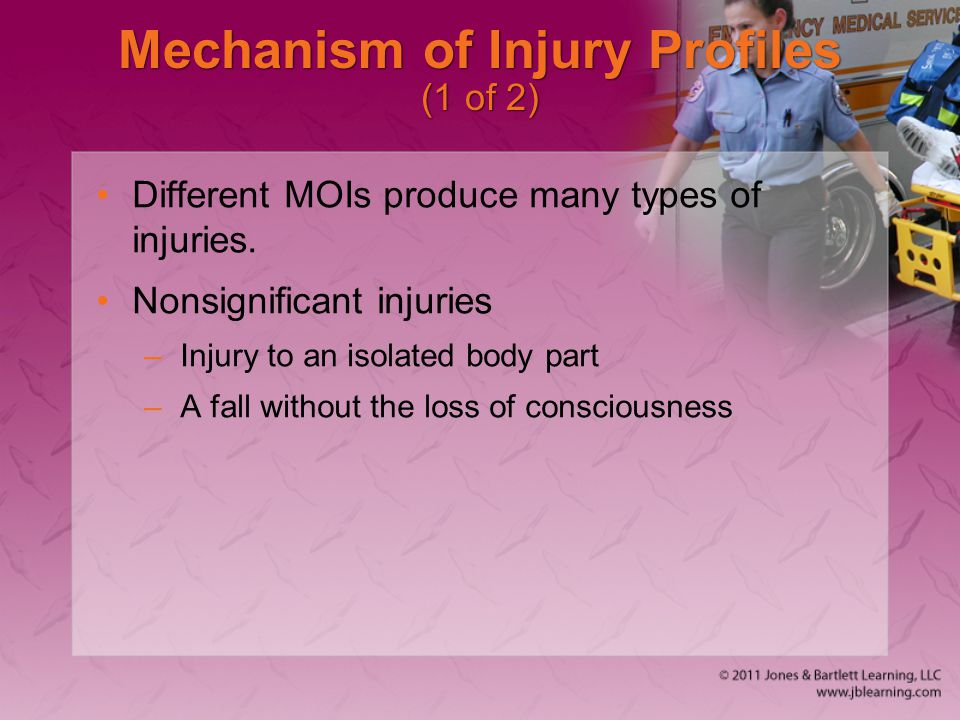 Mechanism of Injury Profiles (1 of 2)