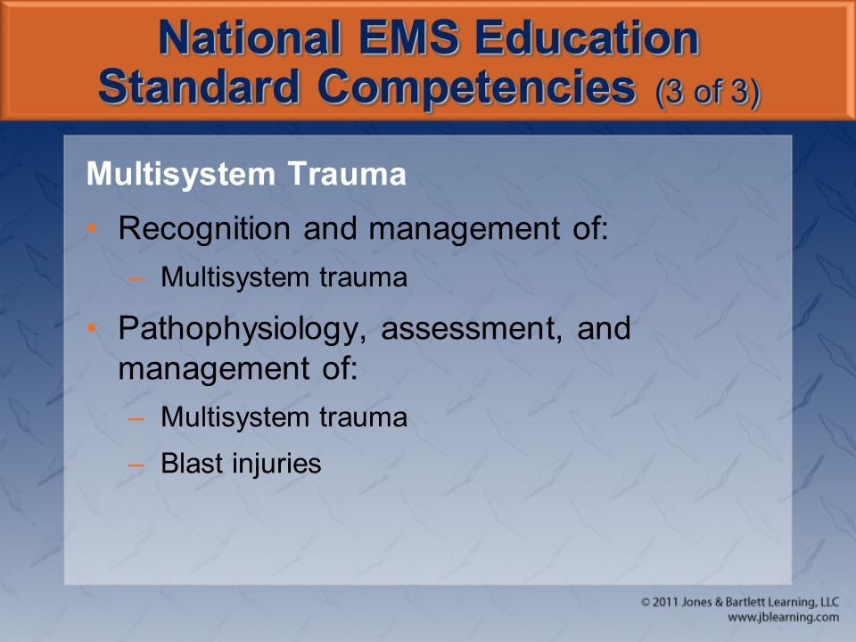 National EMS Education Standard Competencies (3 of 3)