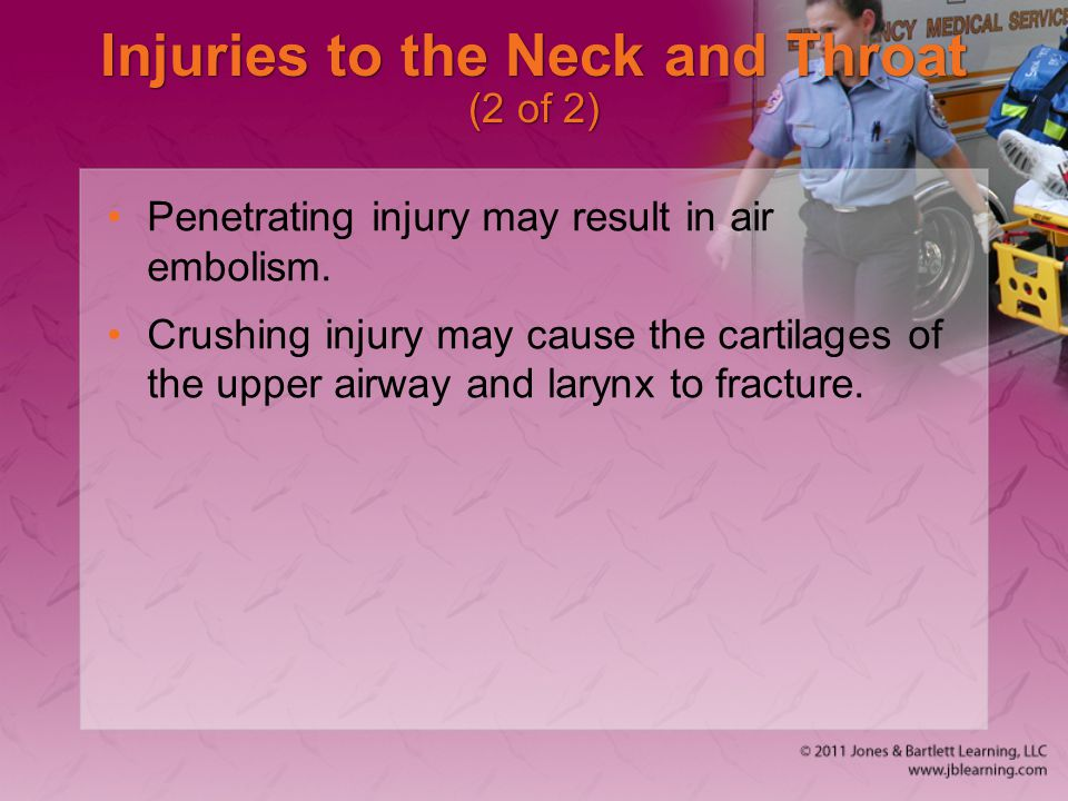 Injuries to the Neck and Throat (2 of 2)