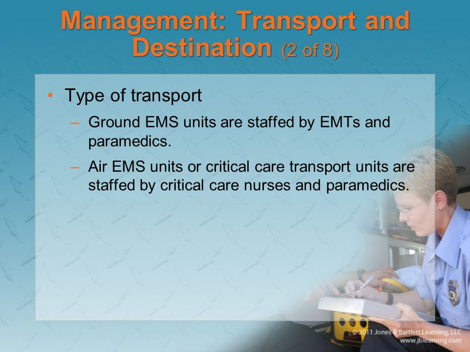 Management: Transport and Destination (2 of 8)