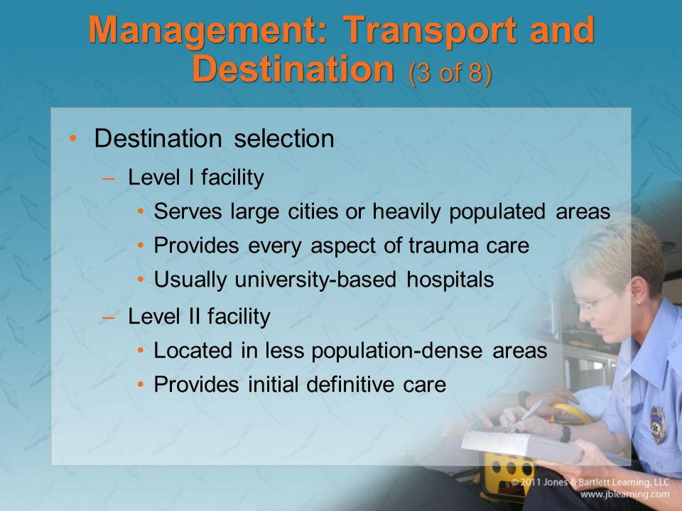 Management: Transport and Destination (3 of 8)