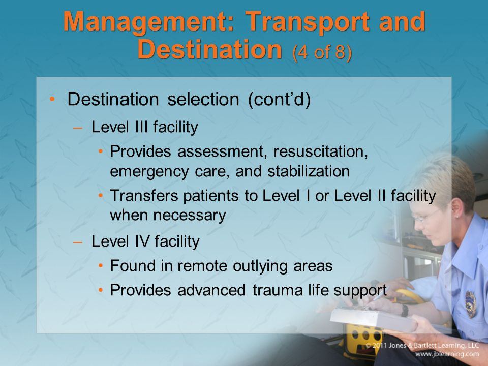 Management: Transport and Destination (4 of 8)