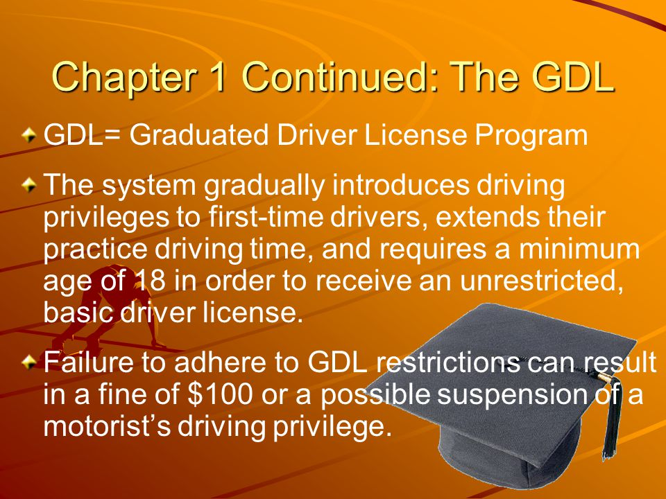 Chapter 1 Continued: The GDL