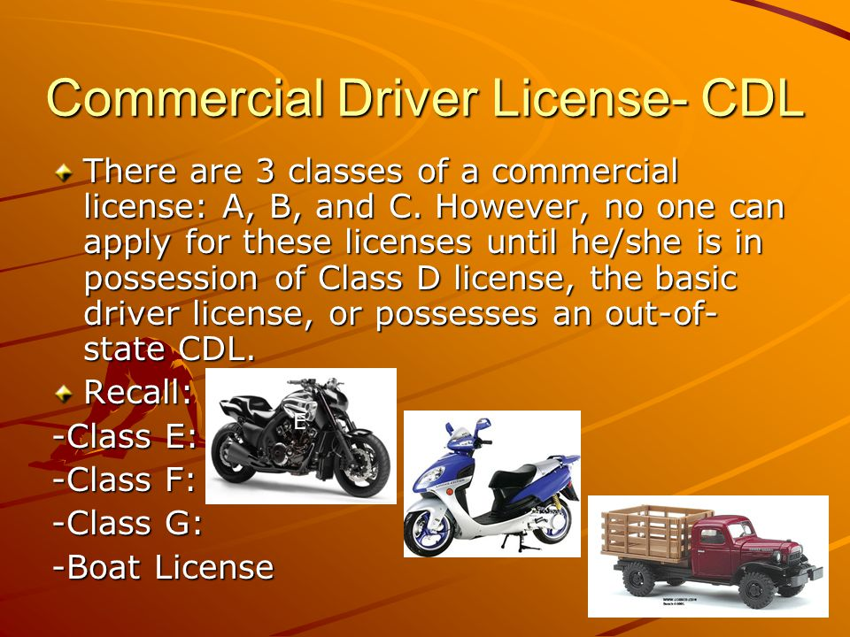 Commercial Driver License- CDL