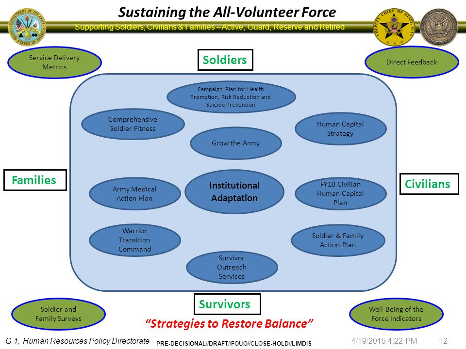 Sustaining the All-Volunteer Force Institutional Adaptation