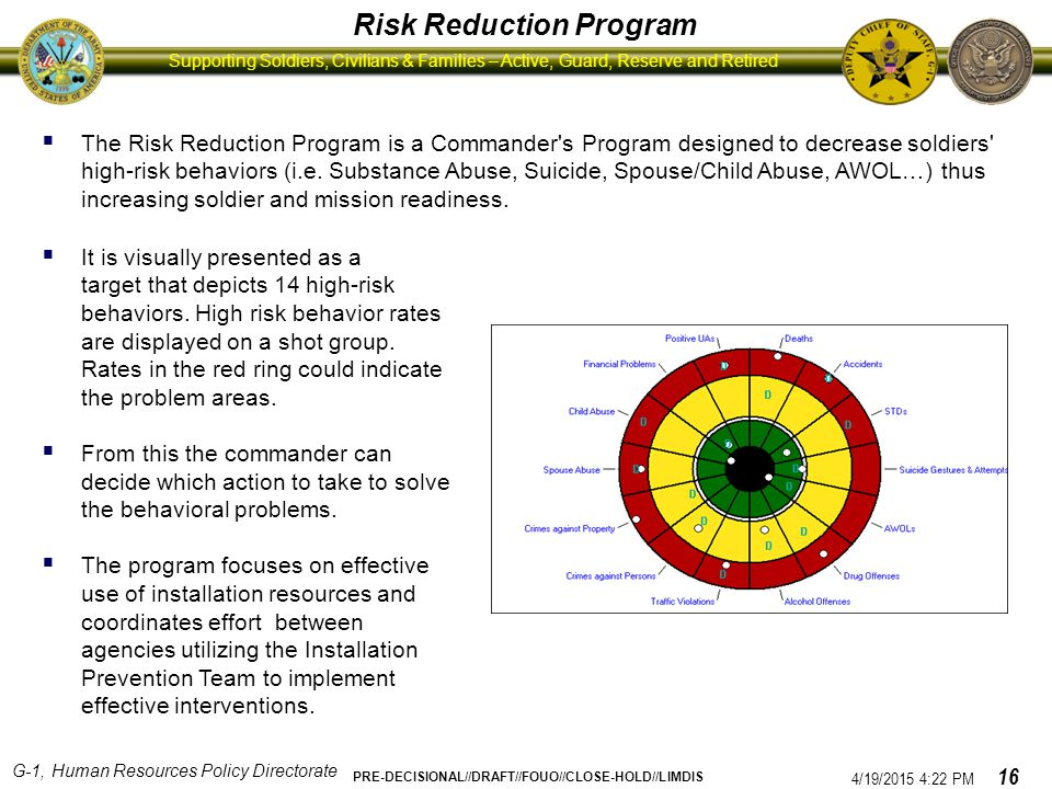 Risk Reduction Program