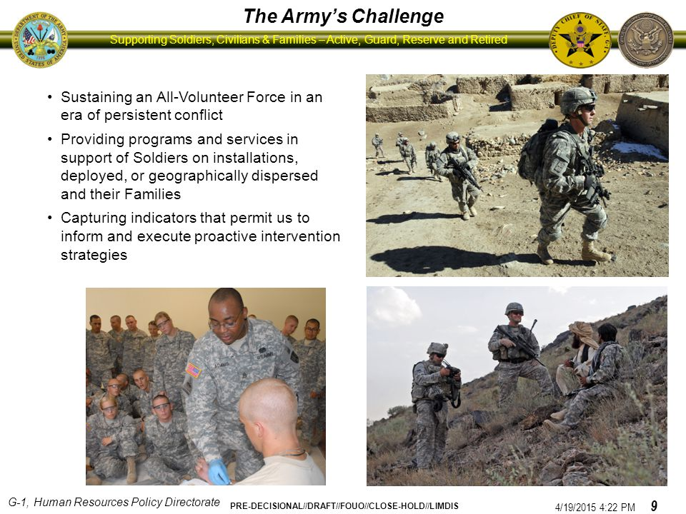 The Army's Challenge Sustaining an All-Volunteer Force in an era of persistent conflict.
