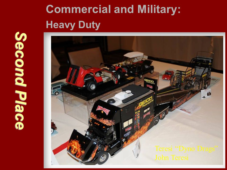 Second Place Commercial and Military: Heavy Duty Teresi Dyno Drags